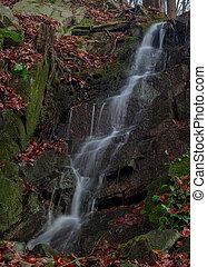 Waterfall in of Czech Republic Hranice
