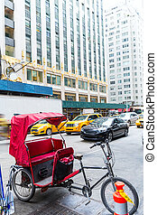 Avenue of Americas 6th Av new york rickshaw bike Manhattan