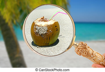 Focusing in on a tropical drink - Magnifying glass focusing...