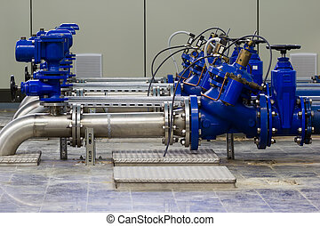Industrial water pumping - Water pumping station with...