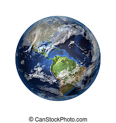 3D image of planet Earth - Isolated 3D image of planet Earth...