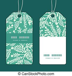 Vector emerald green plants vertical stripe frame pattern...