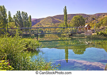 Natural beauty of green Zrmanja river