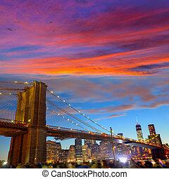Brooklyn bridge and Manhattan skyline July 4th - Brooklyn...