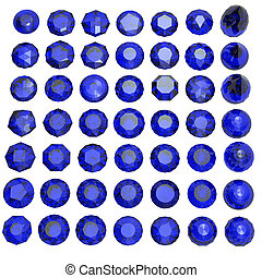Round shape gemstone. Collections of jewelry gems. sapphire