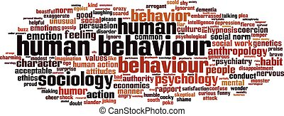Human behaviour word cloud concept Vector illustration