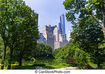 Central Park The Pond Manhattan New York US