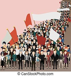 people came to the meeting - Vector illustration in the form...