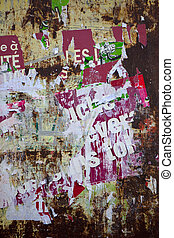 Posters - Torn posters on the wall