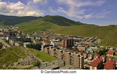 New buildings in the capital city Ulaanbaatar,Mongolia - New...