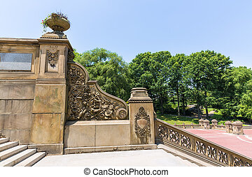 Central Park Bethesda Terrace stairs New York - Central Park...
