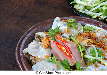 Vietnamese food, Rice noodle roll - Vietnamese food, Banh...