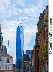 Lower Manhattan with Prudential Tower New York - Lower...