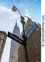 Manhattan New York city Broadway 6th Av downtown NYC US