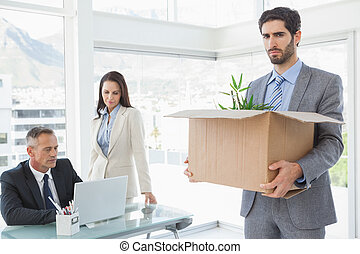 Unhappy employee being let go from work
