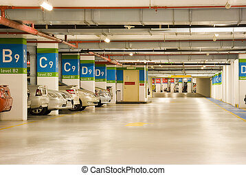 Basement Car Park - Image of a basement car park.