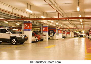 Basement Car Park - Image of a basement car park.