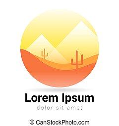 Logo desert in abstract design