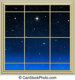 bright star through the window - a single bright wishing...