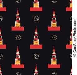 russian kremlin seamless pattern vector flat background