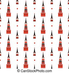 russian kremlin seamless pattern vector flat background