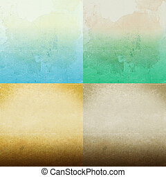 earthy background - Set of earthy background and design...