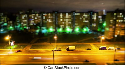 Saint Petersburg at night high angle view time lapse, Toy...