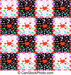Arrows_of_ Amur - Illustration of pattern with hearts and...