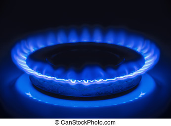 Burning blue gas