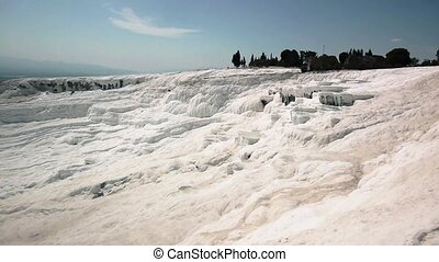 Travertine Pools And Terraces In Pamukkale - Travertine...