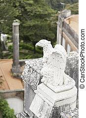 Old stone eagle