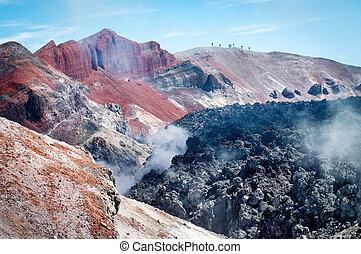 Avacha Volcano on Kamchatka , Russia, - Avacha Volcano on...
