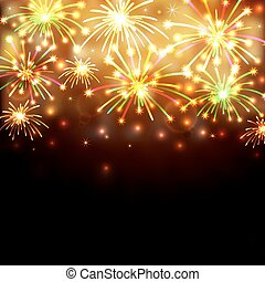 Colorful firework background - Illustration of colorful...