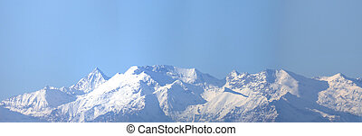 Alps mountains - Cottian alps mountains seen from Turin