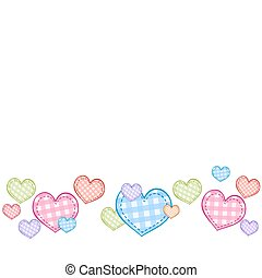 Valentine's day background with colorful hearts.