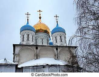 Savior Transfiguration Cathedral in Novospassky Monastery in...