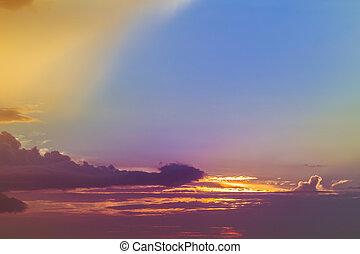 Beautiful sky at sunset, Sky Background