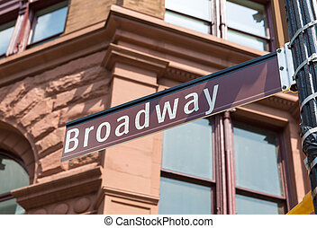 Broadway Street sign Manhattan Soho New York - Broadway...