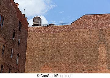 Soho building brickwall in Manhattan New York City - Soho...