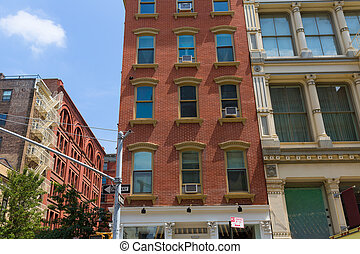 Soho building facades in Manhattan New York City - Soho...