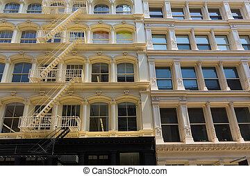 Soho building facades in Manhattan New York City - Soho...