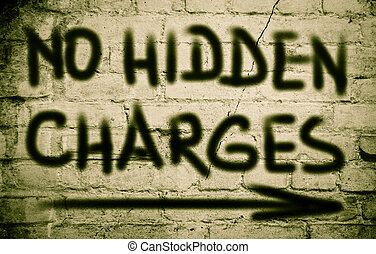 No Hidden Charges Concept