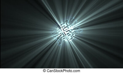 Animation of an abstract spotlight in motion giving light