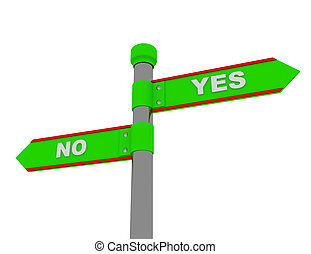 yes no roadsign