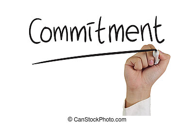 Commitment Concept - Motivational concept image of a hand...