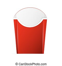 French Fries Paper Box - Blank french fries box, excellent...
