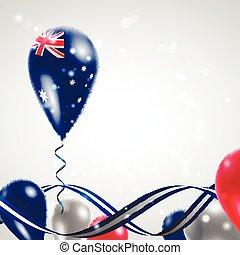 Australian flag on balloon