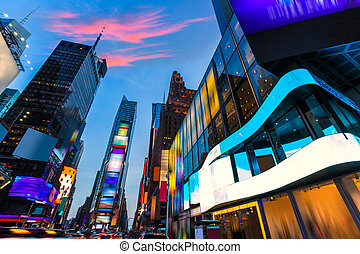 Times Square Manhattan New York deleted ads