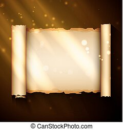 magic scroll - An ancient chinese scroll, excellent vector...