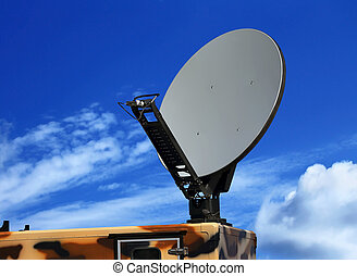 Parabolic antenna satellite communications - Dish antenna of...